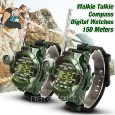 Игрушечные двухканальные часы рация WALKIE TALKIES 7 в 1 (комплект 2 шт)
